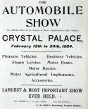 1904 Motor Show reviews
