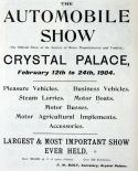 1904 Motor Show reviews