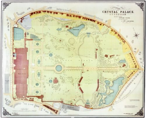 Map of Crystal Palace Park 1911