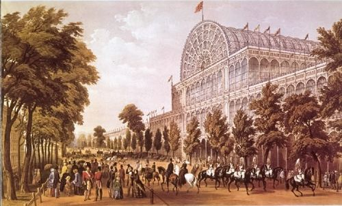 The Crystal Palace - 1851 Great Exhibition from Rotton Row