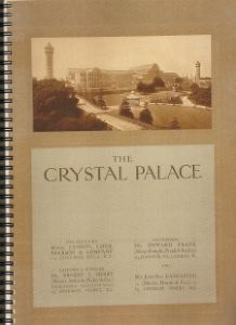 The Crystal Palace - 1909 Knight Frank and Rutley sale document
